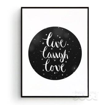 Harga Live Laugh Love Quote Wall Art Print Poster, Frame Not Include Canvas Art S013