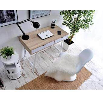 Harga Simple and Adorable Home & Living PC Computer Desk With Double Drawer