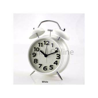 Harga [6 Cute Collection - Free AA Battery] Twin Bell Loud Analogue Alarm Clock with 3D Numbering - 6 Colours