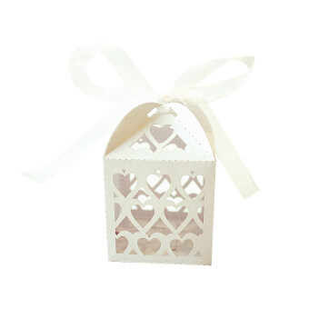 Harga 50pcs Delicate Hollow Out Heart Chocolate Candy Boxes Wedding Party Favor