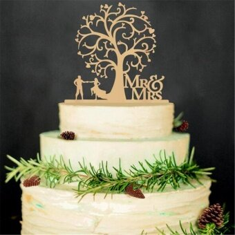 Harga Romantic Wooden Cake Topper Rustic Wedding Anniversary Favor Decoration Keepsake