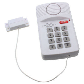 Harga Wireless Security Keypad Door Alarm System With Panic Button Shed Garage Caravan