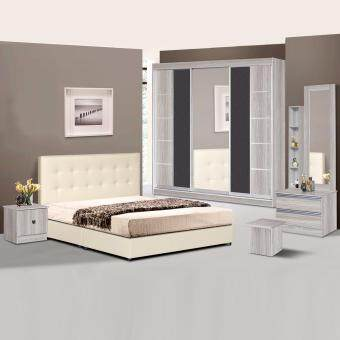 Harga Cavenzi Milton 8' x 8' Bedroom Set (Grey)