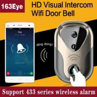 Harga HD Visual Video Door Intercom WiFi IP Door Bell Camera Support 433 Series Wireless Alarm L1 Doorbell