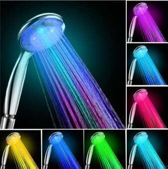 Harga Showerhead 7 Color Change Led Romantic Light Water Bath Bathroom Shower Head Glow Color Multicolored Color Multicolored