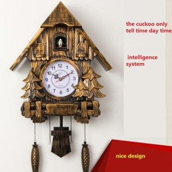 Harga cuckoo clock Fashion living room wall clock 16inch alarm clock quality swing pocket watch modern brief