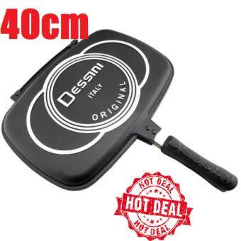 Harga 40cm Dessini ITALY Double Sided Non-Stick Frying Pan (Black)