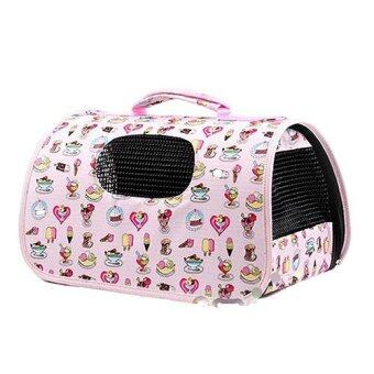 Harga PT4567 Lisa Foldable Pet Carriers Bag - Pink