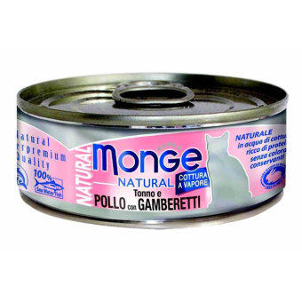 Harga Monge Natural Tuna with Beef Canned Cat Food - 80g [24 in a pack]