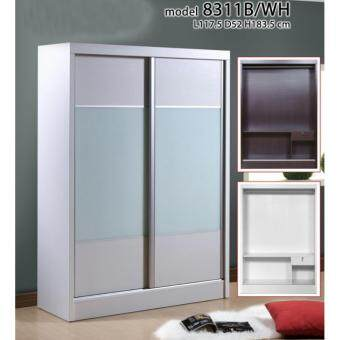 Harga 4 Feet Sliding Wardrobe 8311 White