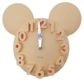 Harga Wall Clock 3D Mickey Mouse Design - Yellow