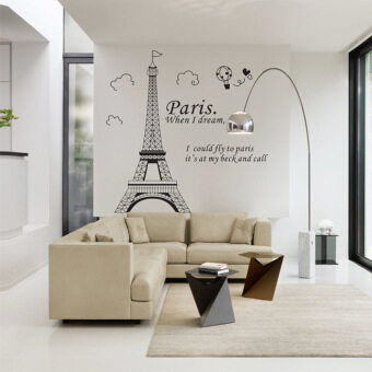 Harga Diy Romantic Wall Stickers Paris Eiffel Tower France Bellawall Decoration