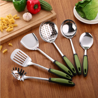 Harga Stainless Steel Kitchen Utensils Sets Seven - Piece Sets Of Kitchen Utensils Cooking Shovel Spoon Surfacespoon Filter Spoon Rack Kitchen Supplies