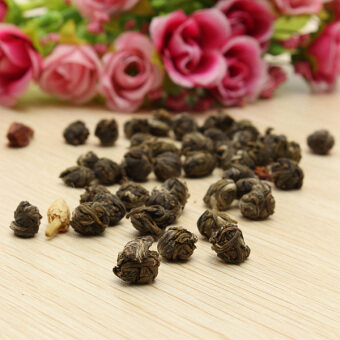 Harga Natural Organic Jasmine Dragon Pearl Ball Chinese Green Flower Tea Loose Leaf