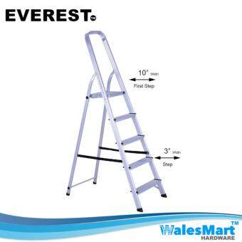 Harga Wales Hardware - Everest AF37 7Steps Aluminium Household Ladder (Silver)