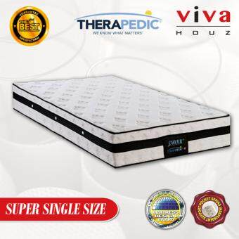 "Harga Therapedic, USA, Cheer 3 Zones Pocketed Spring Luxurious Mattress, 25cm / 10"" Thick (Super Single)"