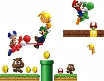 Harga Walplus Stock Clearance Mario & Friends Wall Stickers