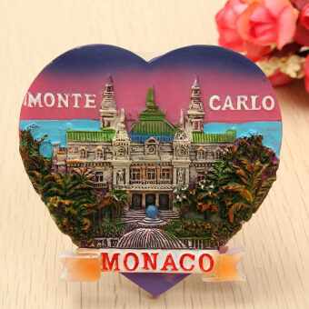 Harga Monaco Monte Carlo - 3D Resin Heart-shaped Tourist Travel Souvenir Fridge Magnet NEW