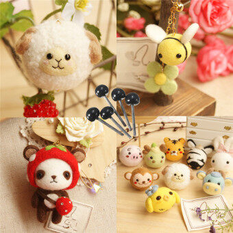Harga 150 Pairs Glass Eyes 2/3/4mm Fr Needle Felting Bears Dolls Animals Black Eyes