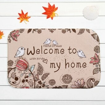 Harga 40*60cm Indoor Non Slip Floor Mat Rugs (Welcome come to my home)