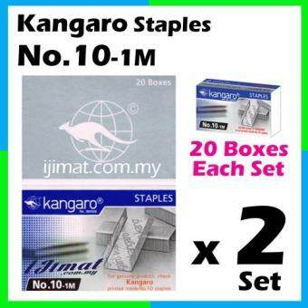 Harga 2 Set Stapler Bullet Kangaro Staple Staples No.10 / 10-1m Size normal Stapler Bullet / Dawai Kokot (20boxes Each Set) I JIMAT
