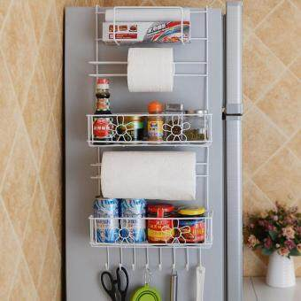 Harga Refrigerator Rack Side Shelf Sidewall Holder Multipurpose Spice Space Crack Storage Estante Fridge Kitchen Organizer