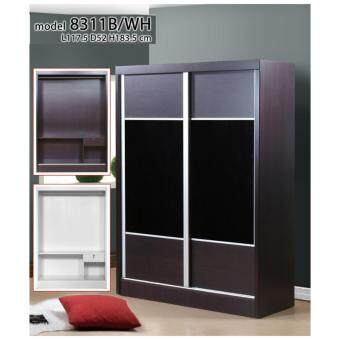 Harga 4 Feet Sliding Wardrobe 8311 Black