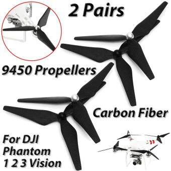 Harga REAL Carbon Fiber 2 Pairs 9450 Propellers CW/CCW For DJI Phantom 1 2 3 Vision