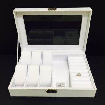 Harga ASOTV Watch & Jewellery Box with Key (White)