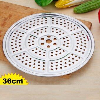 Harga 36cm Stainless Steel Home Kitchen Food Cooking Steamer Rack Plate