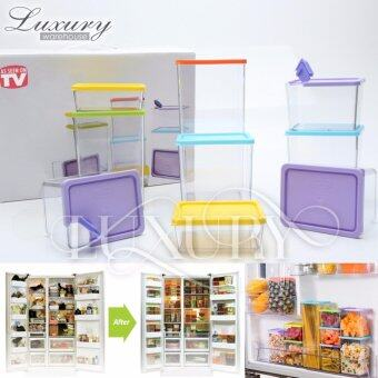 Harga Luxury Multipurpose Plastic Stackable and Space-Savvy Pocket Block Spice & Food Storage Box Container 6 Pcs