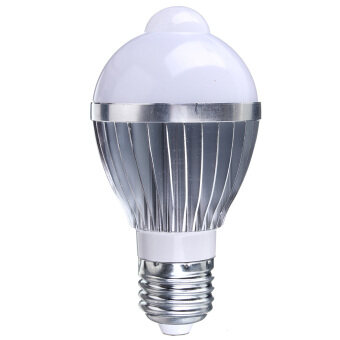 Harga E27 3W 5W 7W Auto PIR Infrared Motion Sensor Detection White LED Bulb Lamp Light Pure White