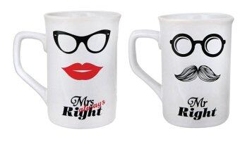 Harga Mr Right & Mrs Always Right Mug - 2pcs