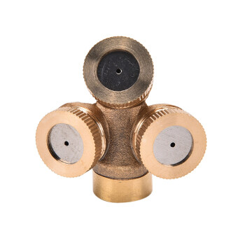 Harga Adjustable Brass Spray Misting Nozzle Garden Sprinklers Irrigation Fitting 3Hole