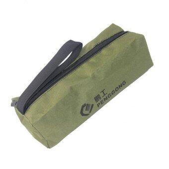 Harga BolehDeals Oxford Storage Bag Repair Tools Hardware Handbag Zip Organizer Army green