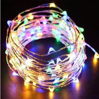 Harga MIDWEC Battery Operated Waterproof String Lights Silver Wire Fairy Lights Christmas Decoration