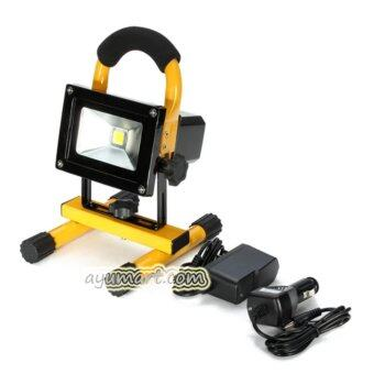 Harga Portable Rechargeable LED Flood Light Emergency Lamp 10W