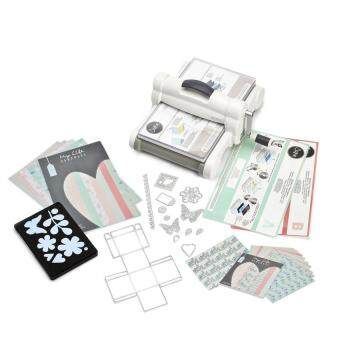 Harga 661546 Big Shot Plus Starter Kit Featuring My Life Handmade incl. Cardstocks & Fabric (UK Version)