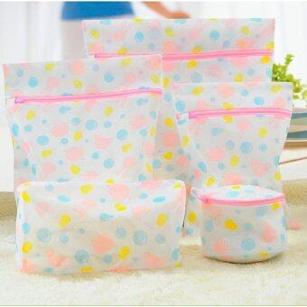 Harga 5pcs/set Laundry Machine Washing Bags Zipped Net Meshp