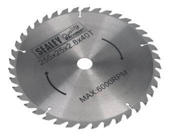 Harga (Pre-order) Sealey Compound Mitre Saw Blade 254 x 2.8mm 25.4mm Bore 40tpu Model: SMS10B40
