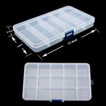 Harga 2 Pcs 15 Grids plastic jewel case box