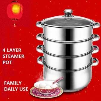 Harga COOKING STEAMING POT STAINLESS STEEL STEAMER POT STOCK POT KITCHENWARE