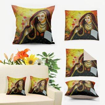 Harga Indian Tribes Anime Princess Yellow Vintage Decorative Pillow Cushions for Sofa Covers Case Throws Funda Cojines Z1000