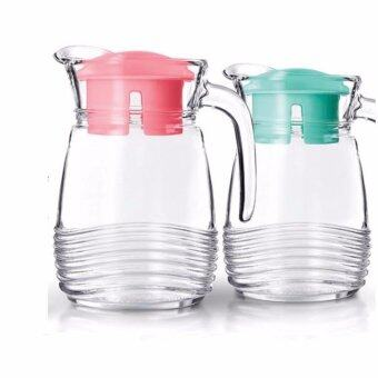 Harga Luminarc Glass Jar 1000ml - Green / Pink (France)