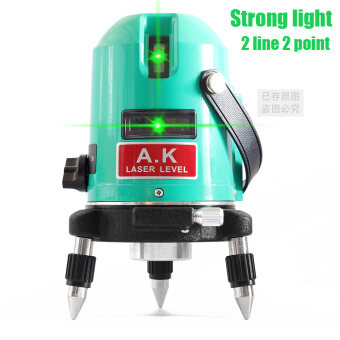 Harga High Power 2 line 2 point AK green laser level 360 degree rotary laser line Horizontal and Vertical cross levels self leveling