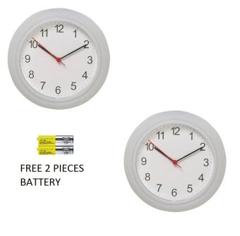 Harga IKEA Wall Clock White ( 2 PCS)