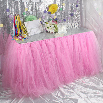 Harga HL Pink Tutu Table Skirt Wedding Baby Shower Favor Decoration