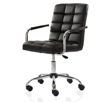 Harga Leather Comfort & Ergonomic Swivel Chair - Black