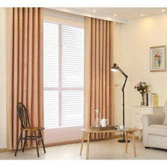 Harga 1 PCS 150x270 Plain dyed bedroom blackout window curtain