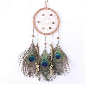 Harga Hot Sales Dream Catcher Circular Net Peacock Feathers Wall Hanging Car Hanging Decor Hign quality
